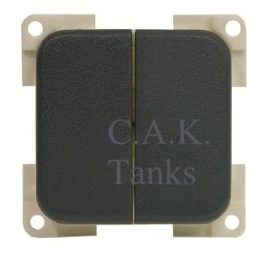 CBE TWIN ON OFF PADDLE ROCKER SWITCH - GREY